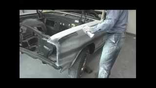 1965 Chevelle:  Block Sanding Polyester Filler Video V8TV