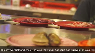 Sukishi Buffet Conveyer Belt Noodle Soup Bar Bangkok Thailand