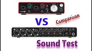 Behringer Umc 404 HD Vs Focusrite 2i2 Comparison ǁ Sound Test ǁ Dp Studio