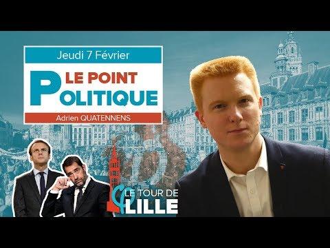 """Le Point Politique : Grand débat national, Loi """"anti-casseurs"""", Le Tour de Lille   Adrien Quatennens"""