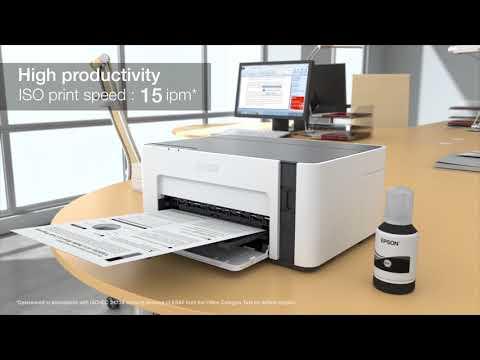Epson EcoTank M1120黑白高速Wi-Fi 連續供墨印表機 耐用、精省、節能滿足各式列印需求