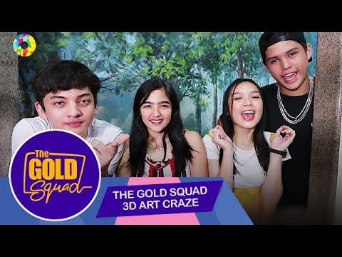 GOLD SQUAD GETS INTO THE 3D ART CRAZE | The Gold Squad