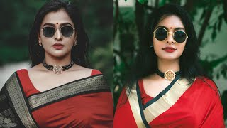 RAMYA NAMBESSAN Inspired Makeup look|Saree makeup look|Thick Kajal eye look|Asvi Malayalam