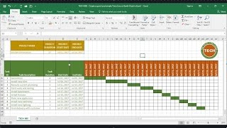 TECH-005 - Create a quick and simple Time Line (Gantt Chart) in Excel