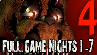 Five Nights at Freddys 4 Full Game Walkthrough Nights 1 - 7 (FNAF 4 Nights 1 - 7) No Commentary
