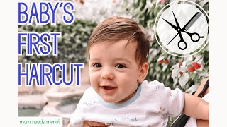 Baby's FIRST Haircut! …in a PANDEMIC | 5-Month-Old Boy's Super Cute Hair Style | BEFORE and AFTER!