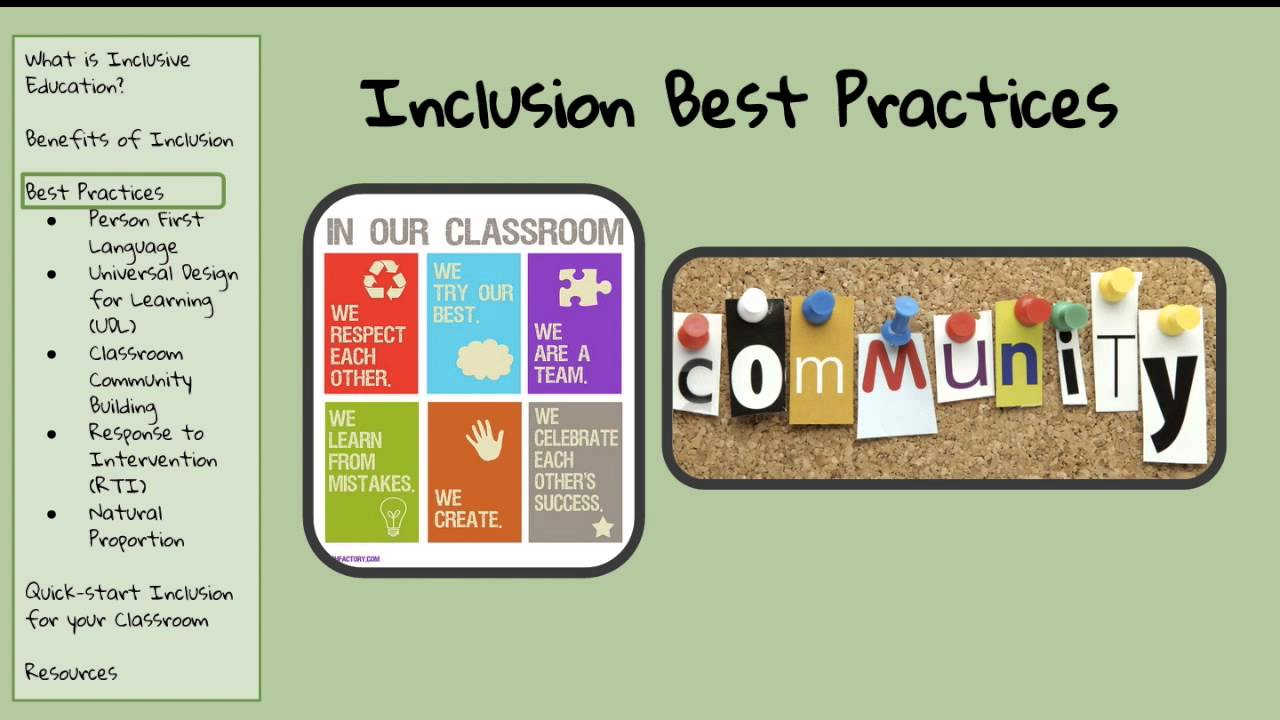inclusion in practice In any case here are 10 videos that i think are good examples on how particular schools put inclusion into practice i know that once i saw these.