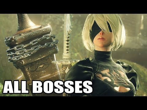 Nier Automata GOTY Edition: All Bosses (With Cutscenes) HD 1080p60 PC