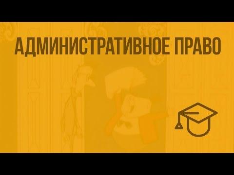 Административное право. Видеоурок по обществознанию 9 класс