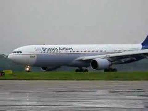 SNBA A330 landing at Freetown (FNA), Sierra Leone