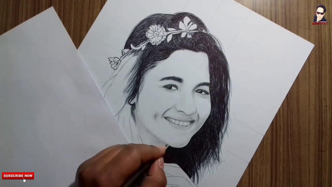 Alia bhatt drawingbollywood actresspencil drawing amrit pun 2018