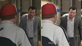 GTA V Reveal Gameplay Trailer vs Retail PS3 Graphics Comparison