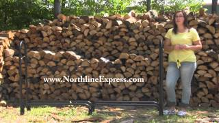 The 87'' Hy-c Tubular Log Rack Is A Great Option For Storing Firewood