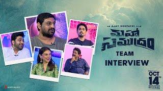 Maha Samudram Team Interview | Sharwanand,Siddharth,Aditi Rao | Ajay Bhupathi | Anil Sunkara Image
