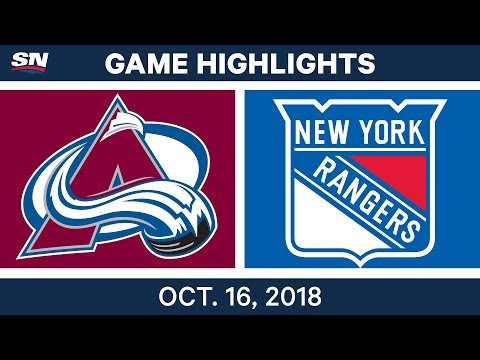 NHL Highlights | Avalanche vs. Rangers - Oct. 16, 2018