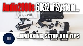 Audio2000s 6032uf UHF Dual Channel Wireless Microphone System