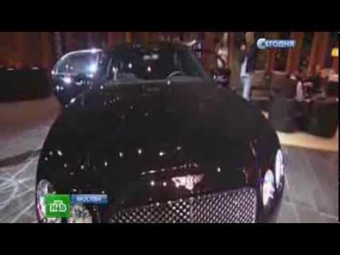 Самый быстрый в мире лимузин показали в Москве. Bentley Flying Spur