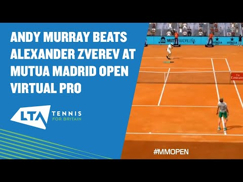 Andy Murray cruises past Alexander Zverev in the Mutua Madrid Open Virtual Pro