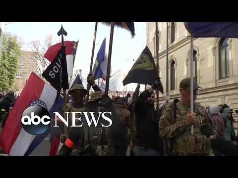 Pro-gun rally at Virginia capital draws thousands of armed protesters | Nightline