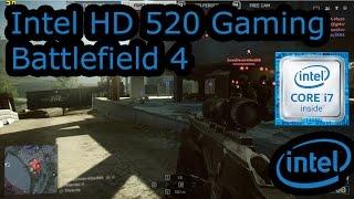 intel hd 520 gaming battlefield 4 skylake i3 6100u i5 6200u i7 6500u surface 4 pro