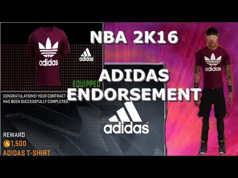NBA 2K16: ADIDAS ENDORSEMENT