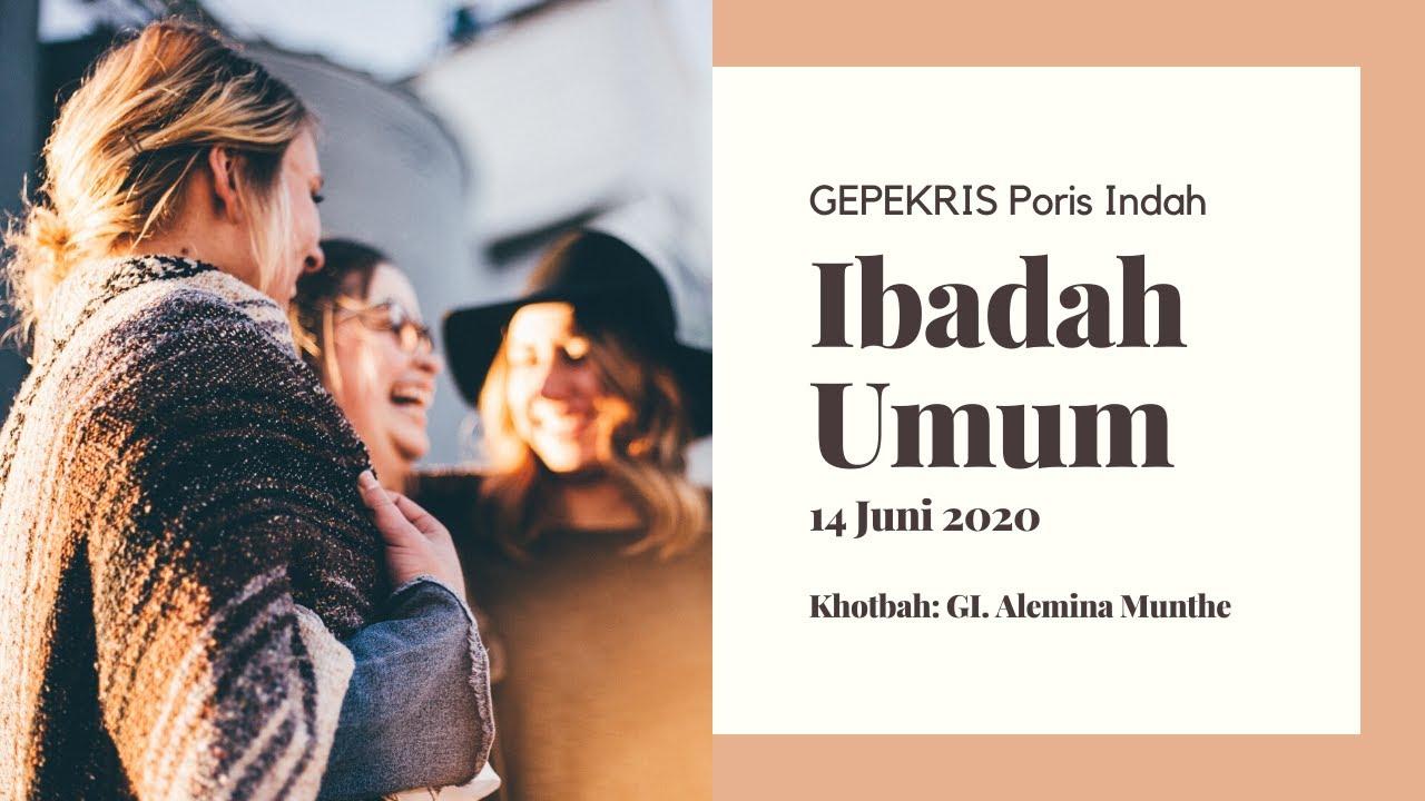 Ibadah Umum 14 Juni 2020 - Menguasai Lidah untuk Membangun (GI. Alemina Munthe)