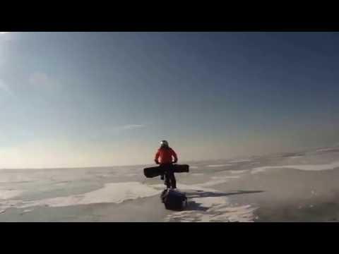 Ice Biking and Ice Fishing