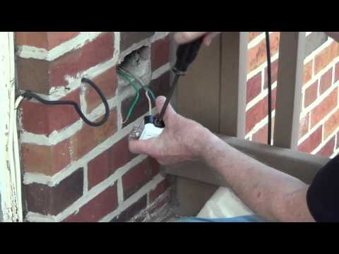 Exterior Outlet - Installing an Outdoor Outlet - Conduit