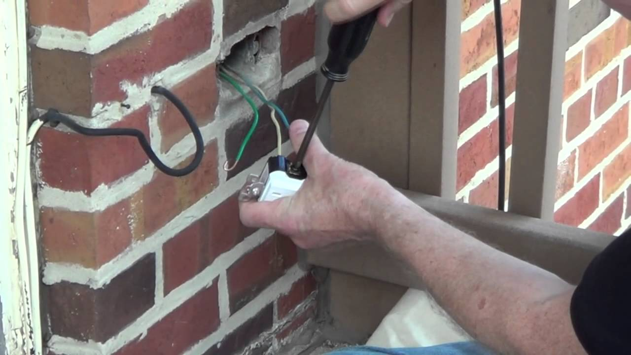 exterior outlet installing an outdoor outlet conduit youtube rh youtube com Residential Electrical Wiring Diagrams Electrical Switch Wiring