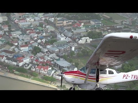 PARAMARIBO SURINAME 2014 form the SKY takeoff Zorg & Hoop