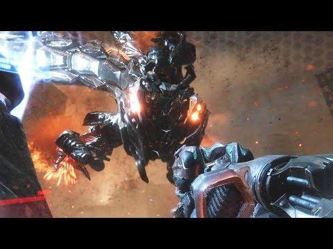 Crysis 3 - Alpha Ceph Boss Fight & Ending (Post-human Warrior) [60fps, 4K]
