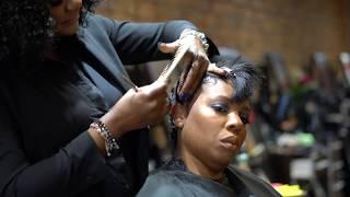 Transformation | Gillian Garcia Signature Pixie Cut on Texturized Hair
