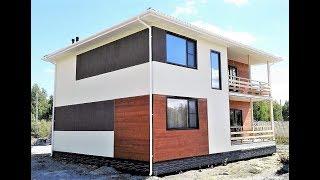 Каркасный дом 11х11 двух этажный (242м2)