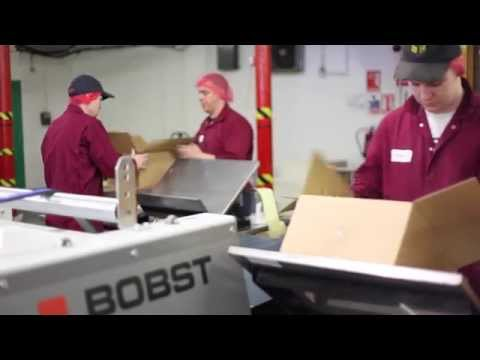 BOBST EXPERTFOLD Folder-gluer At The Kingston Carton Company