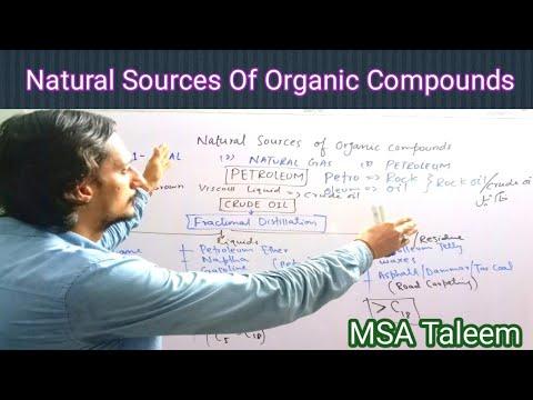 Natural sources of organic compounds    Distillation    Petroleum   Natural Gas    Coal   MSA Taleem