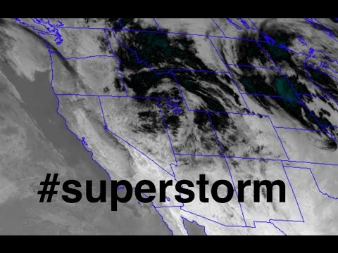 "#Superstorm forming over Rockies | MASSIVE precipitation event | ""White Mud"""