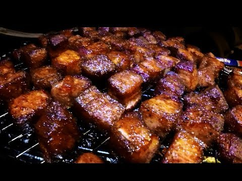 Backyard Pork Belly Burnt Ends - Pork Jello