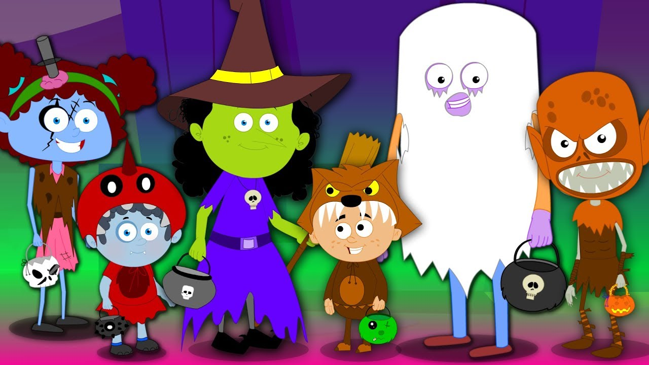 trick or treat happy halloween song scary rhyme for kids halloween ...