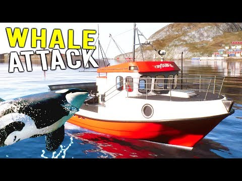 WHALE ATTACKS EXPENSIVE FISHING BOAT! Deadliest Catch Simulator - Fishing: Barents Sea