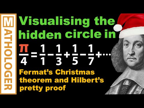 Fermat's Christmas theorem: Visualising the hidden circle in pi/4 = 1-1/3+1/5-1/7+...