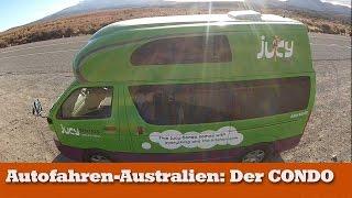 Der Jucy Condo, ein Camper für Australien oder Neuseeland, max. 4 Schlafplätze