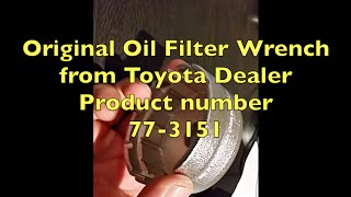 Original Toyota Corolla oil filter wrench - 64.5mm 3/8 Drive(Right place to buy original Toyota oil filter wrench., 2016-09-03T23:10:32.000Z)