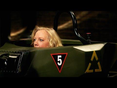 Deborah Meaden drives a tank - Dragons