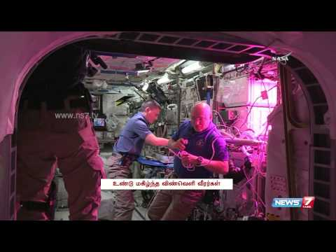 NASA astronaut eats space-grown lettuce | World | News7 Tamil |