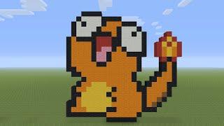 Minecraft Pixel Art Derp Charmander Youtube