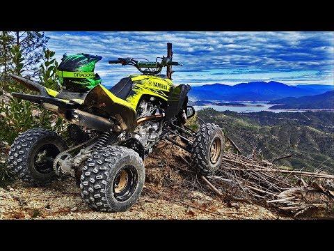 Yamaha Raptor Sport Quad On The Trail Riding At Chappie Shasta