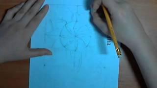 Как нарисовать подсолнух, ч.2. Видеоурок Анны Кошкиной.