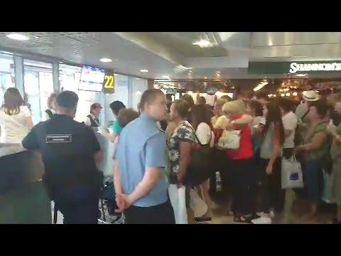 Пассажиры устроили беспорядки в Домодедово из-за задержки вылета