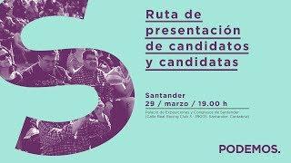 Ruta de presentación de candidatos y candidatas en Santander