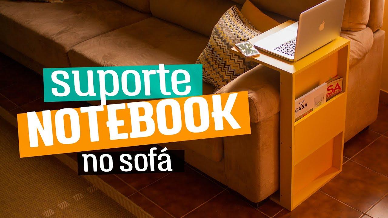 Diy suporte para notebook no sof diycore youtube - Mesa auxiliar para sofa ...